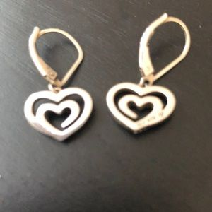 Double heart necklace and earring set